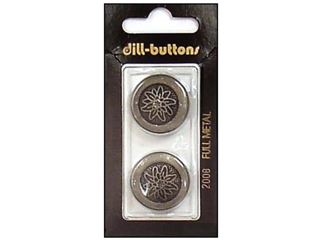 Dill Shank Buttons 7/8 in. Metal Antique Tin #2008 2 pc.