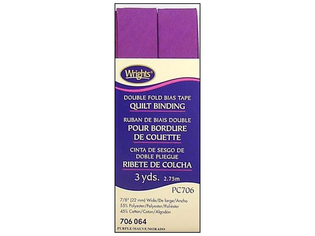 Wrights Double Fold Quilt Binding - Purple 3 yd.
