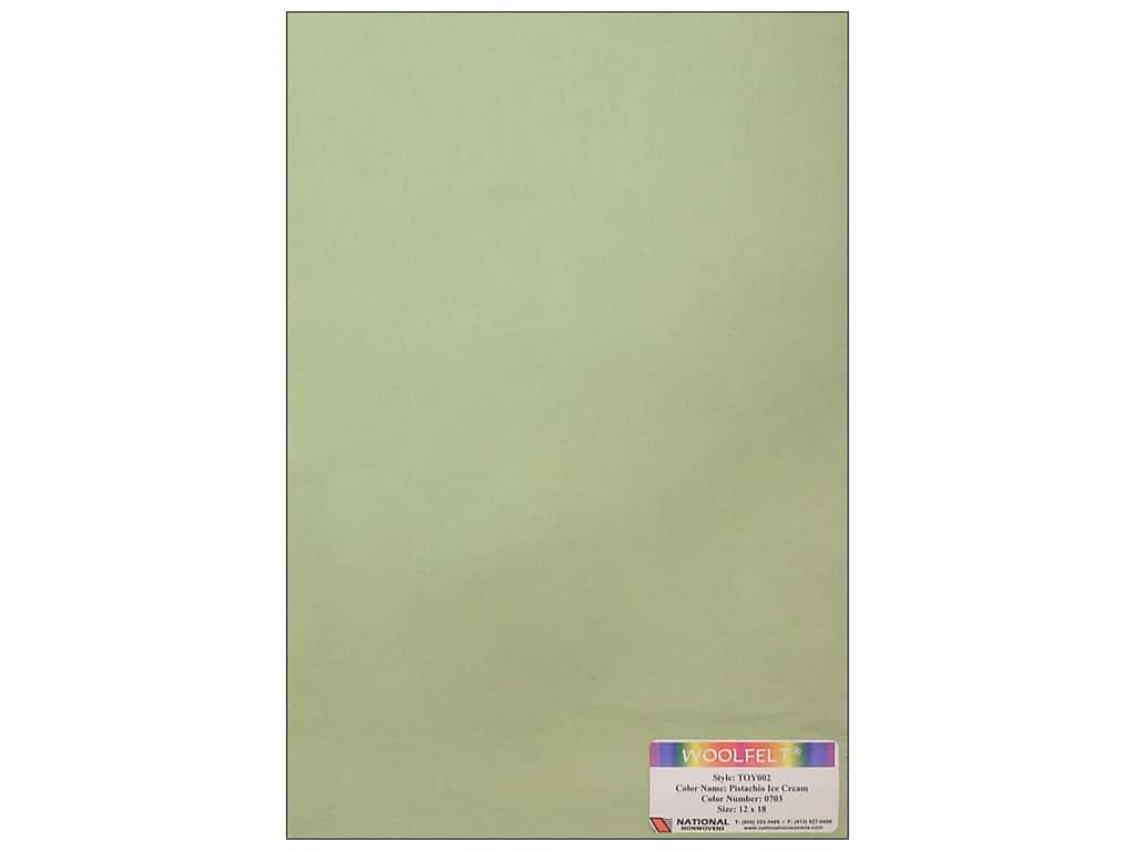 National Nonwovens 35% Wool Felt 12 x 18 in. Pistachio Ice Cream (10 sheets)