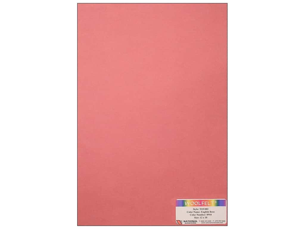National Nonwovens 35% Wool Felt 12 x 18 in. English Rose (10 sheets)