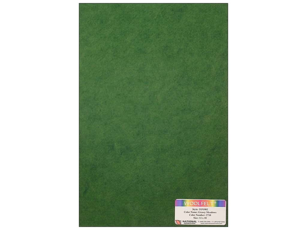 National Nonwovens 35% Wool Felt 12 x 18 in. Grassy Meadows (10 sheets)