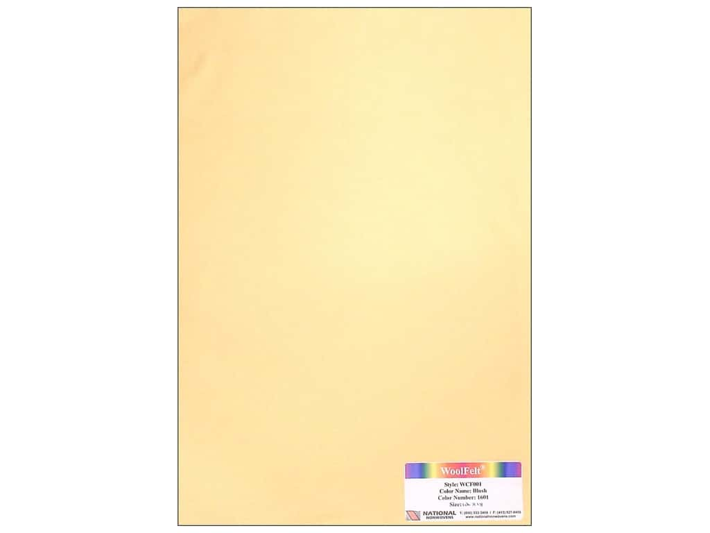 National Nonwovens 20% Wool Felt 12 x 18 in. Blush (10 sheets)