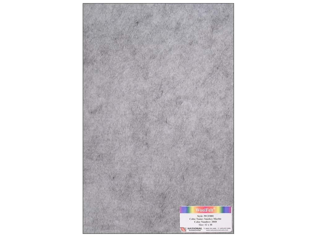 National Nonwovens 20% Wool Felt 12 x 18 in. Smokey Marble (10 sheets)