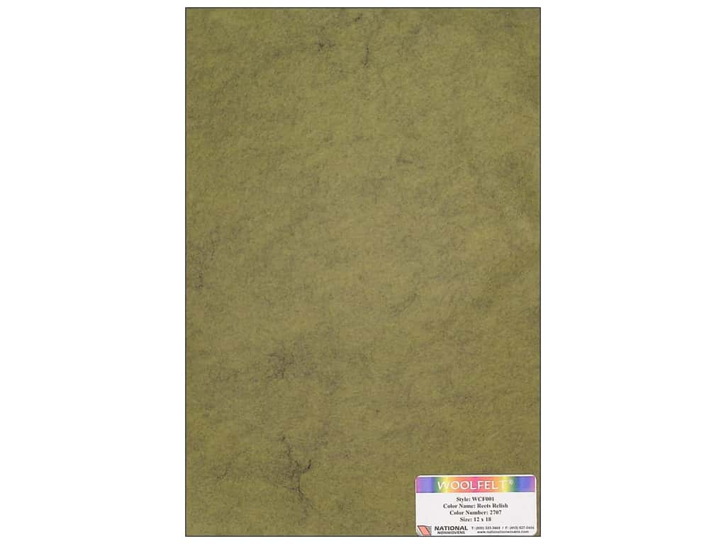 National Nonwovens 20% Wool Felt 12 x 18 in. Reets Relish (10 sheets)