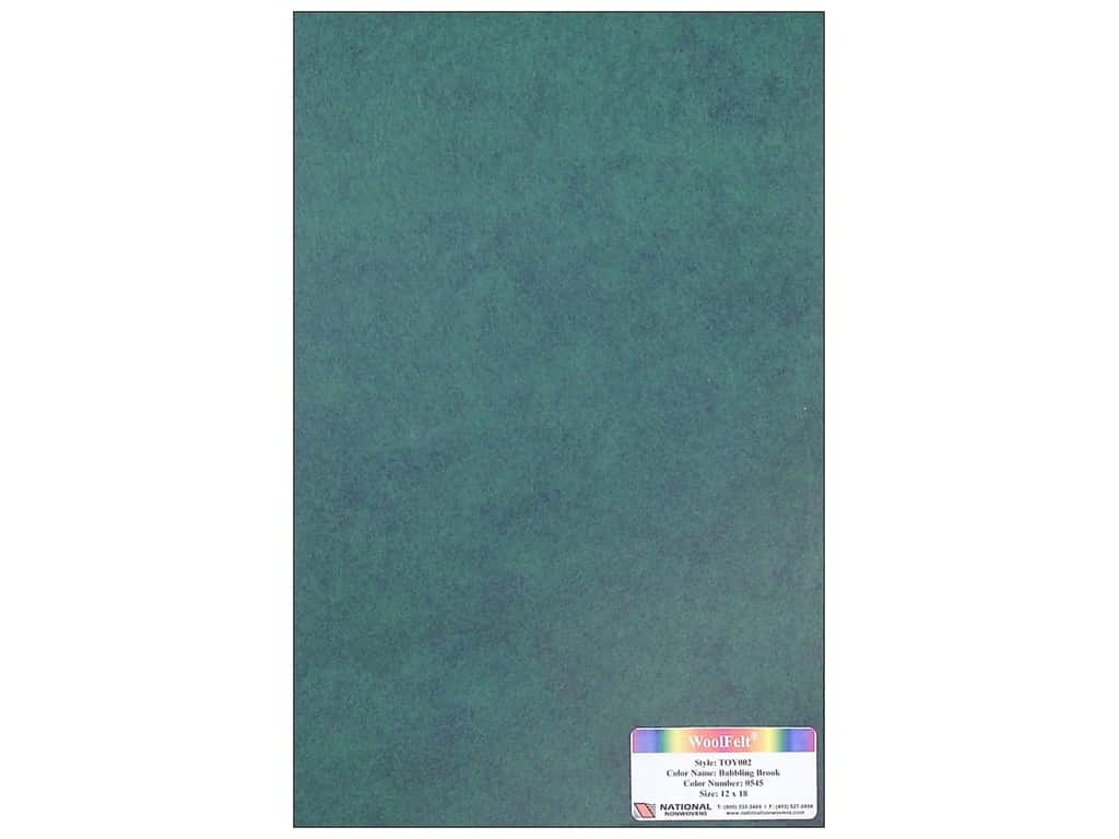 National Nonwovens 35% Wool Felt 12 x 18 in. Babbling Brook (10 sheets)