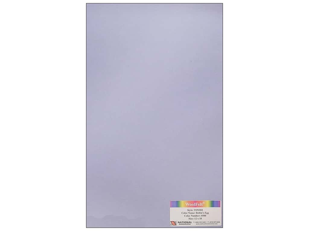 National Nonwovens 35% Wool Felt 12 x 18 in. Robins Egg (10 sheets)