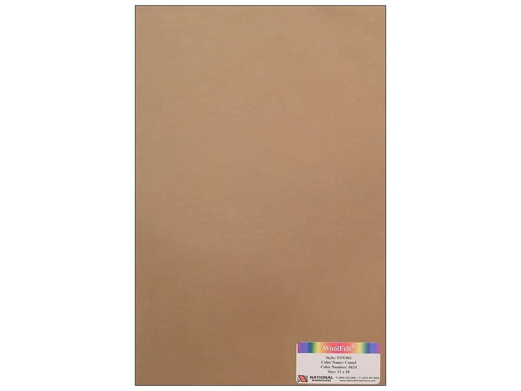 National Nonwovens 35% Wool Felt 12 x 18 in. Camel (10 sheets)