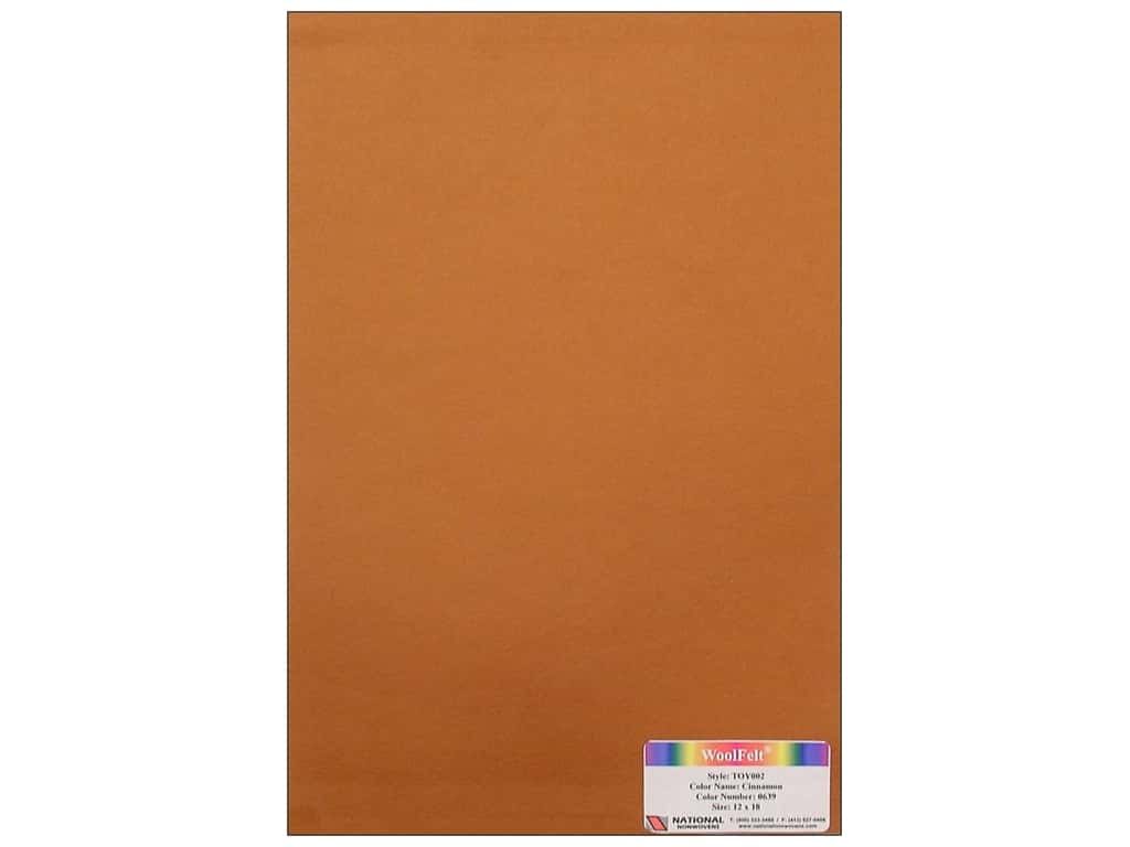National Nonwovens 35% Wool Felt 12 x 18 in. Cinnamon (10 sheets)