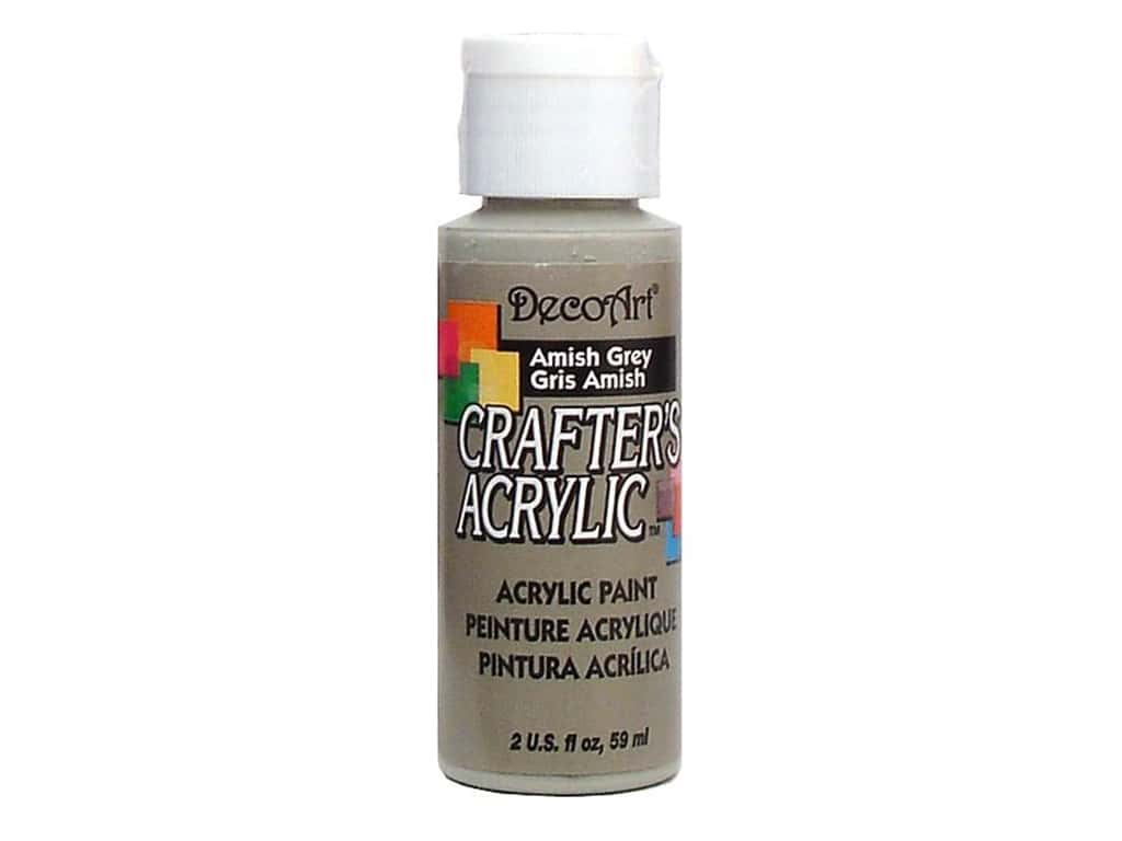 DecoArt Crafter's Acrylic Paint 2 oz. #45 Amish Grey