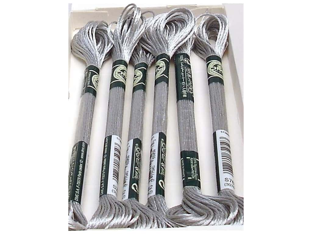 DMC Satin Embroidery Floss #S762 Silver Cloud (6 skeins)