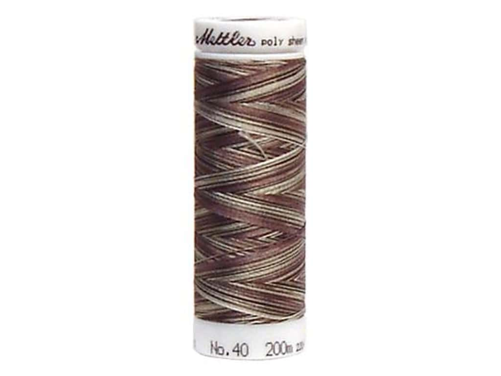 Mettler PolySheen Embroidery Thread 220 yd. #9927 Variegated Coffee Blend