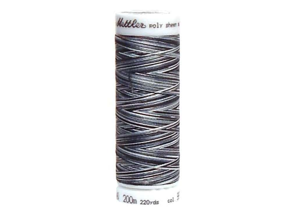 Mettler PolySheen Embroidery Thread 220 yd. #9979 Variegated Salt Pepper