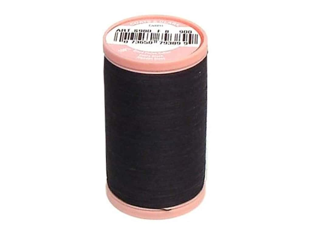 Coats Cotton Hand Quilting Thread 350 yd. #900 Black