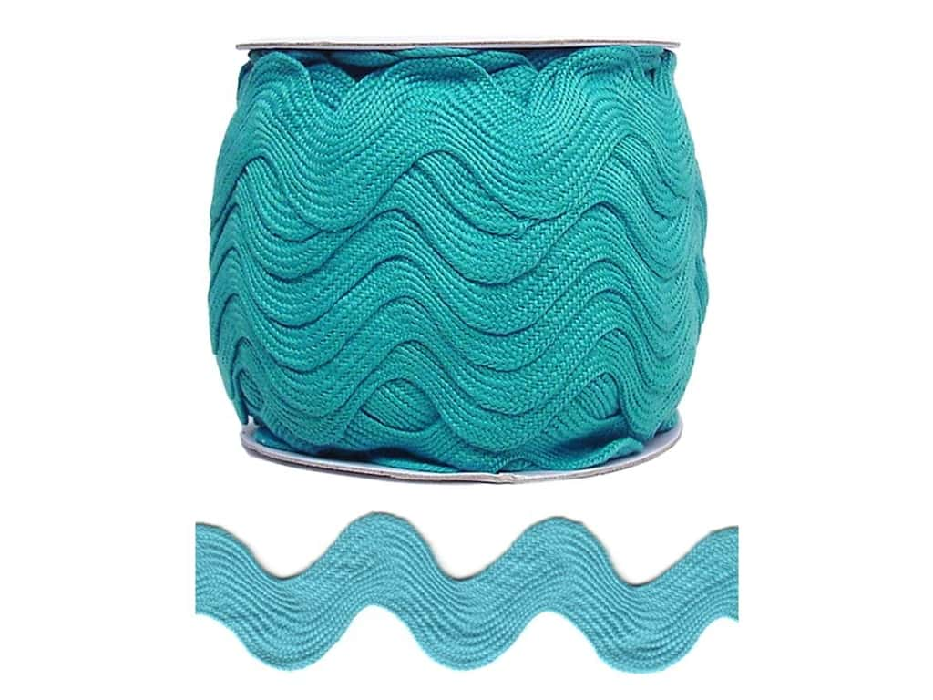 Cheep Trims Jumbo Ric Rac 1 13/32 in. Turquoise (24 yards)