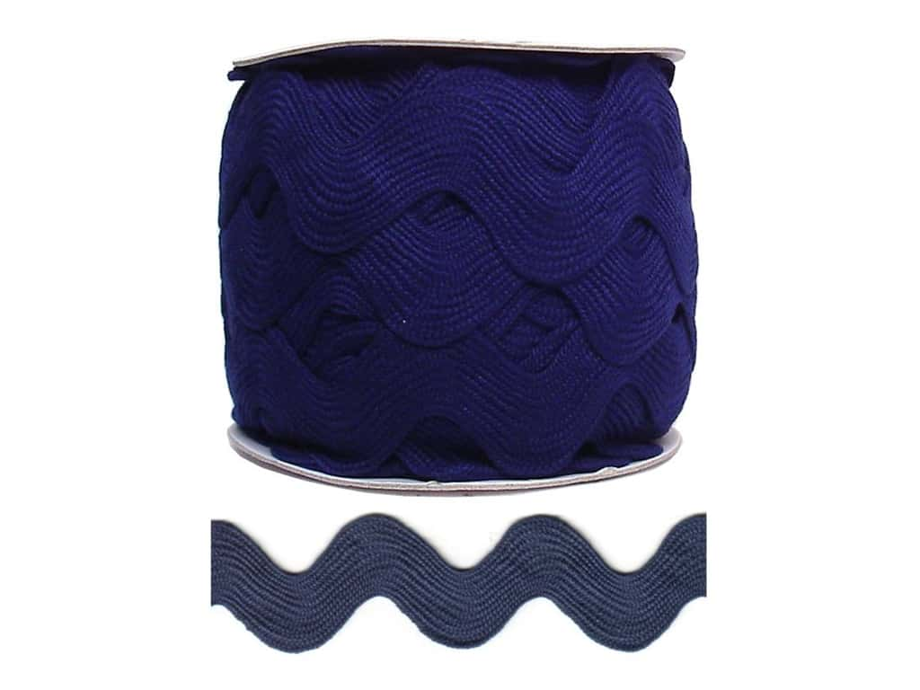 Cheep Trims Jumbo Ric Rac 1 13/32 in. Navy Blue (24 yards)