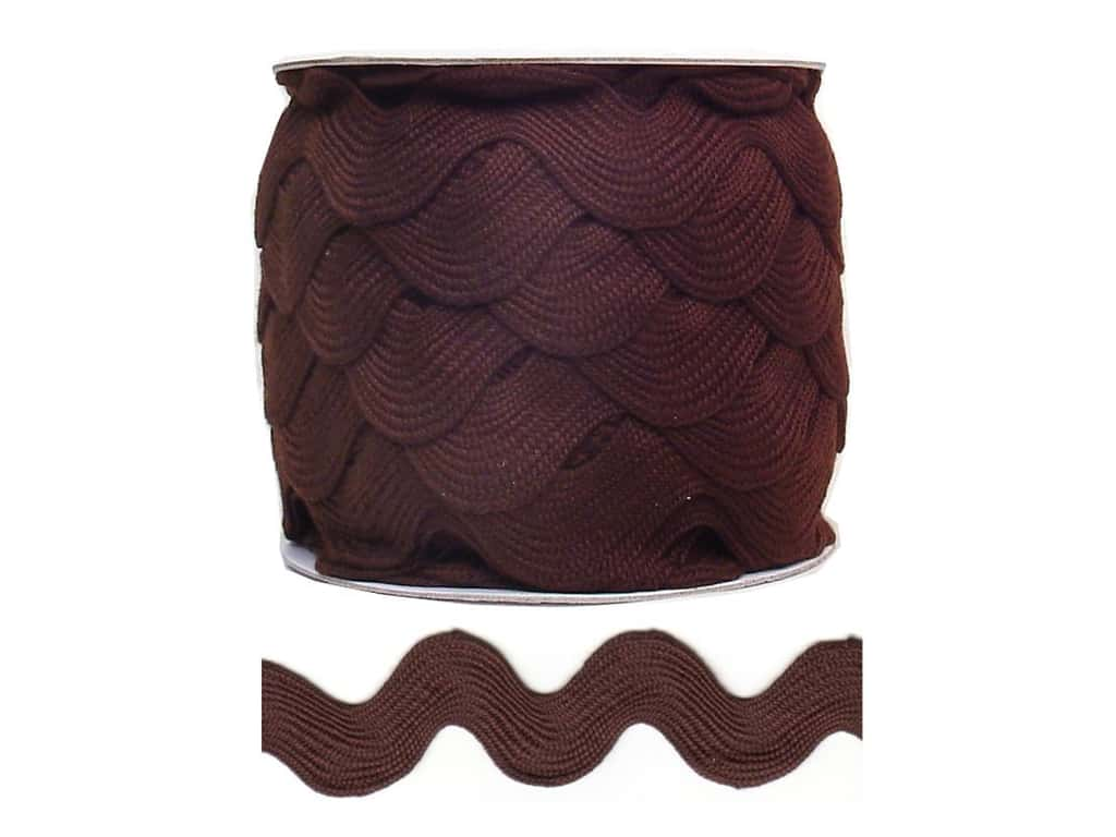 Cheep Trims Jumbo Ric Rac 1 13/32 in. Brown (24 yards)
