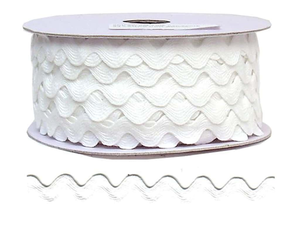 Cheep Trims Ric Rac 11/16 in. White (24 yards)