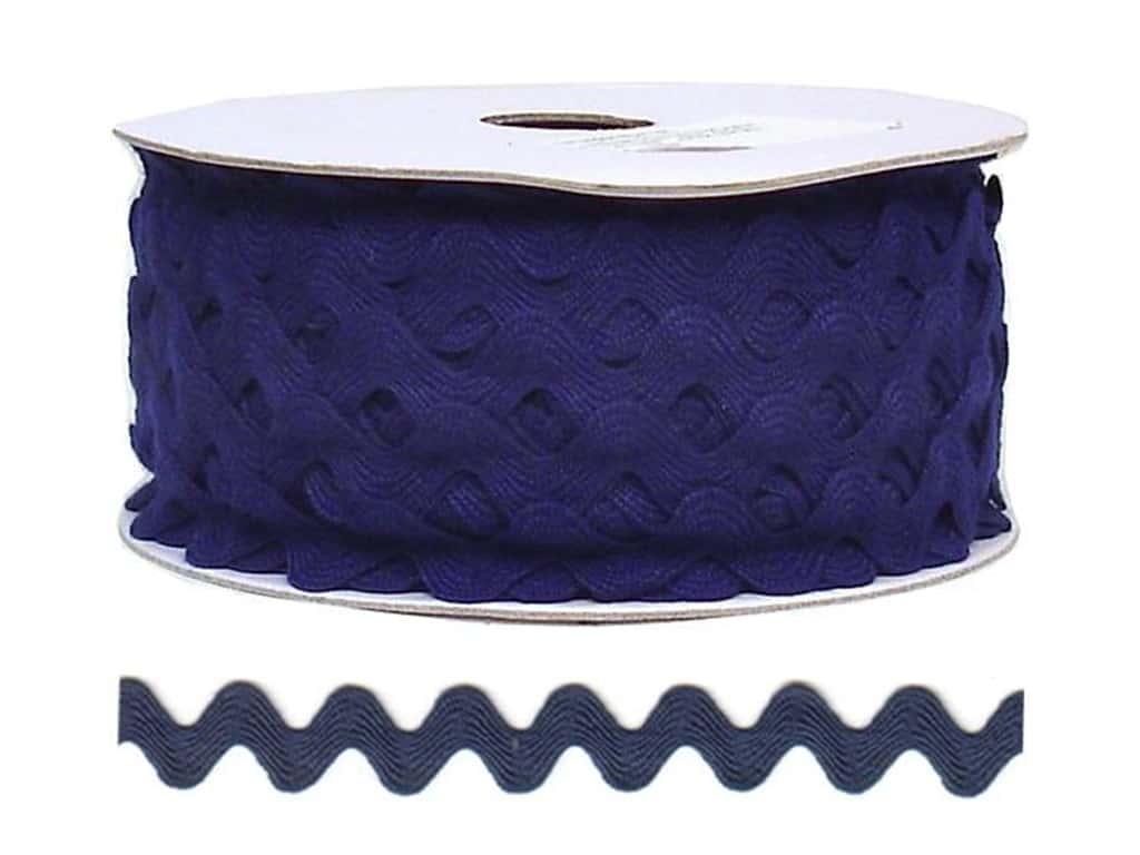 Cheep Trims Ric Rac 11/16 in. Navy Blue (24 yards)