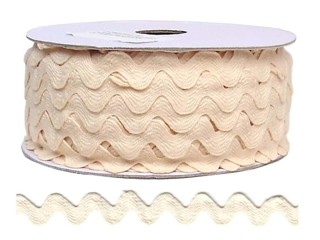 Cheep Trims Ric Rac 11/16 in. Ivory (24 yards)
