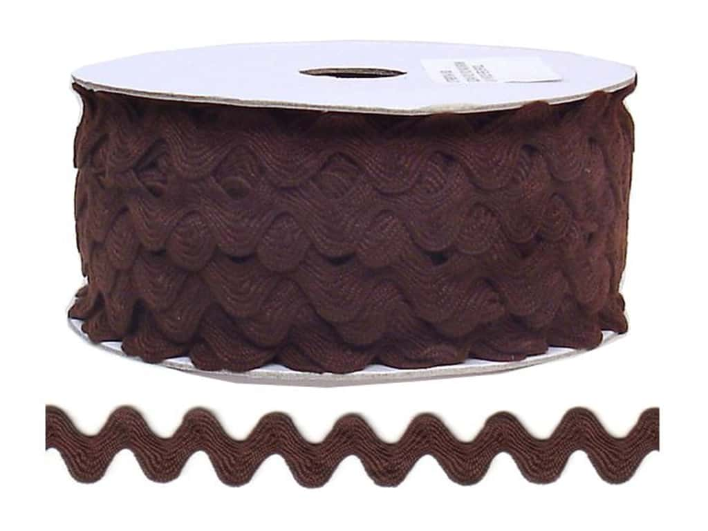 Cheep Trims Ric Rac 11/16 in. Brown (24 yards)