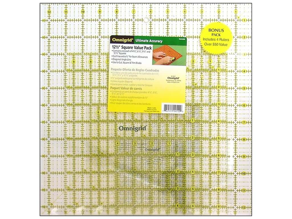 Omnigrid Square Ruler Value Pack #1 4 pc.