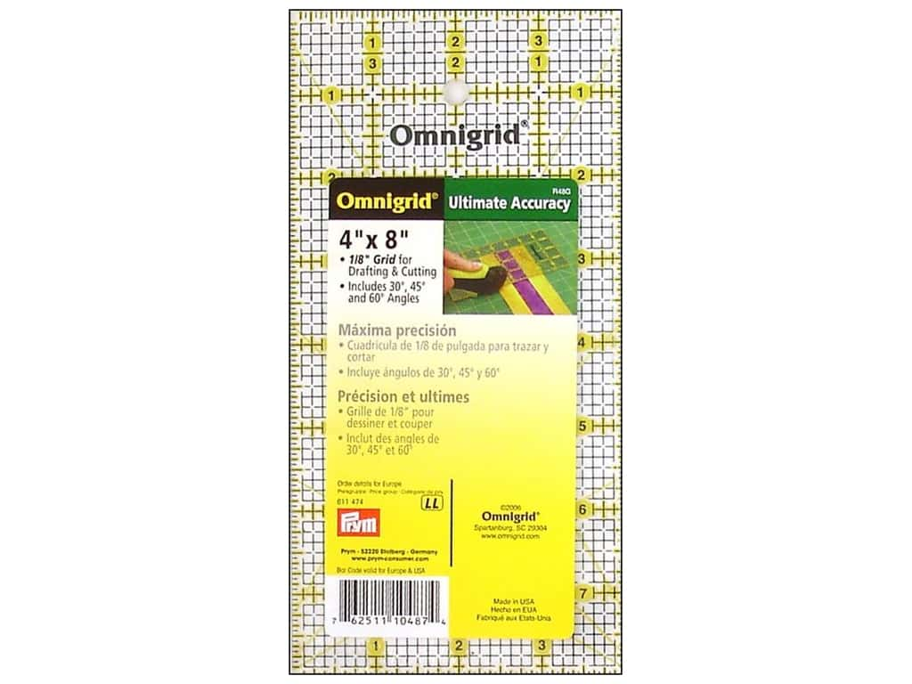 Omnigrid Ruler 4 x 8 in.