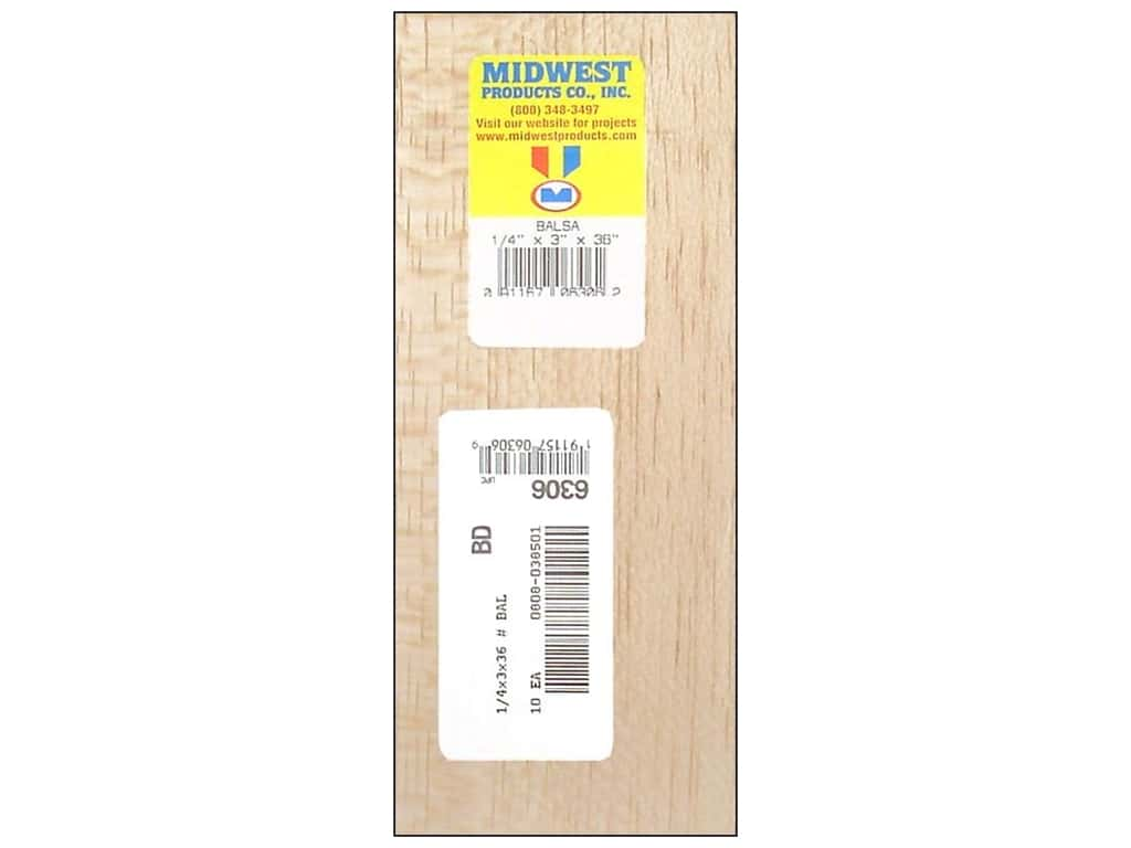 Midwest Balsa Wood Strips 1/4 x 3 x 36 in. (10 pieces)