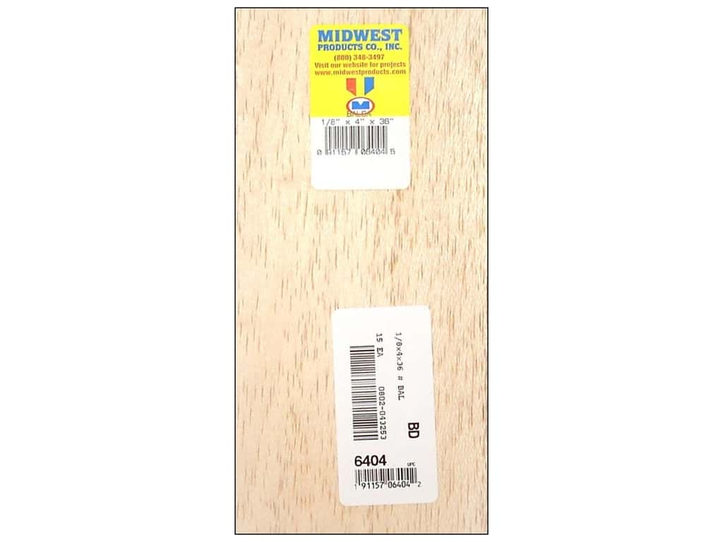 Midwest Balsa Wood Strips 1/8 x 4 x 36 in. (15 pieces)