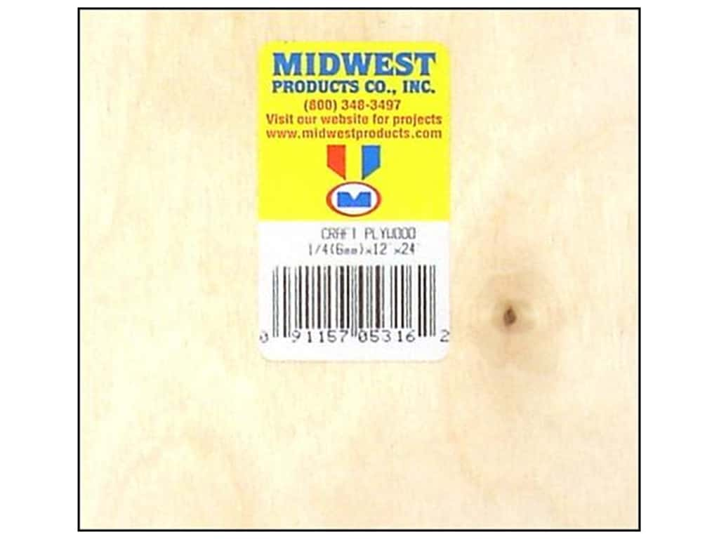 Midwest Craft Plywood 1/4 x 12 x 24 in. (6 pieces)