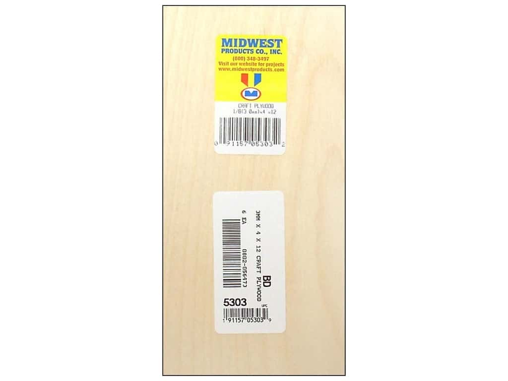 Midwest Craft Plywood 1/8 x 4 x 12 in. (6 pieces)