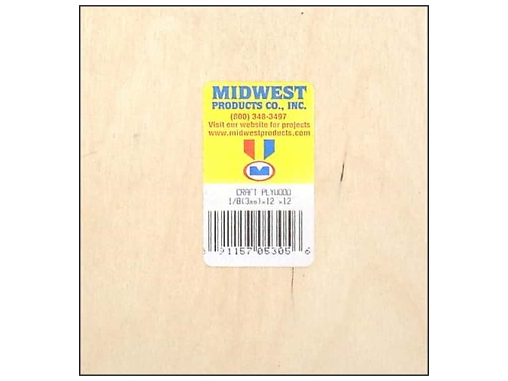 Midwest Craft Plywood 1/8 x 12 x 12 in.