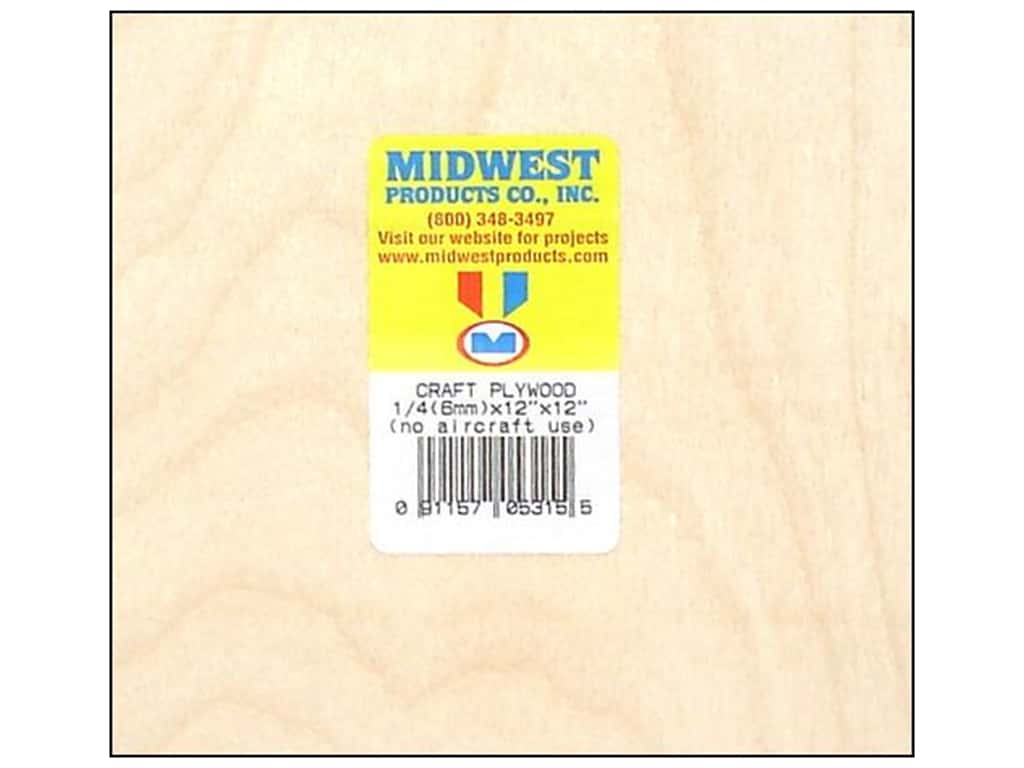 Midwest Craft Plywood 1/4 x 12 x 12 in.