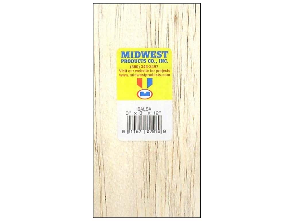 Midwest Balsa Wood Block 3 x 3 x 12 in.