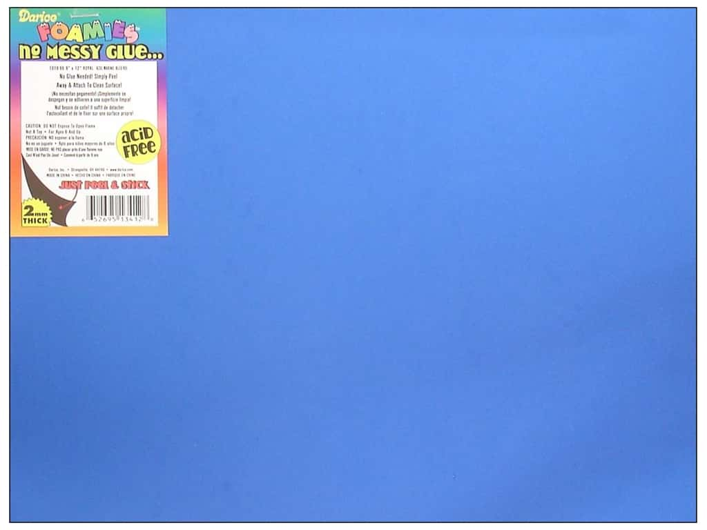 Darice Foamies Sticky Back Sheets 9 x 12 in. 2 mm. Royal Blue (10 sheets)