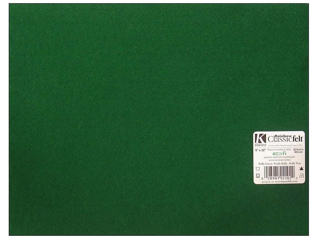 Kunin Felt 9 x 12 in. Kelly Green (24 sheets)