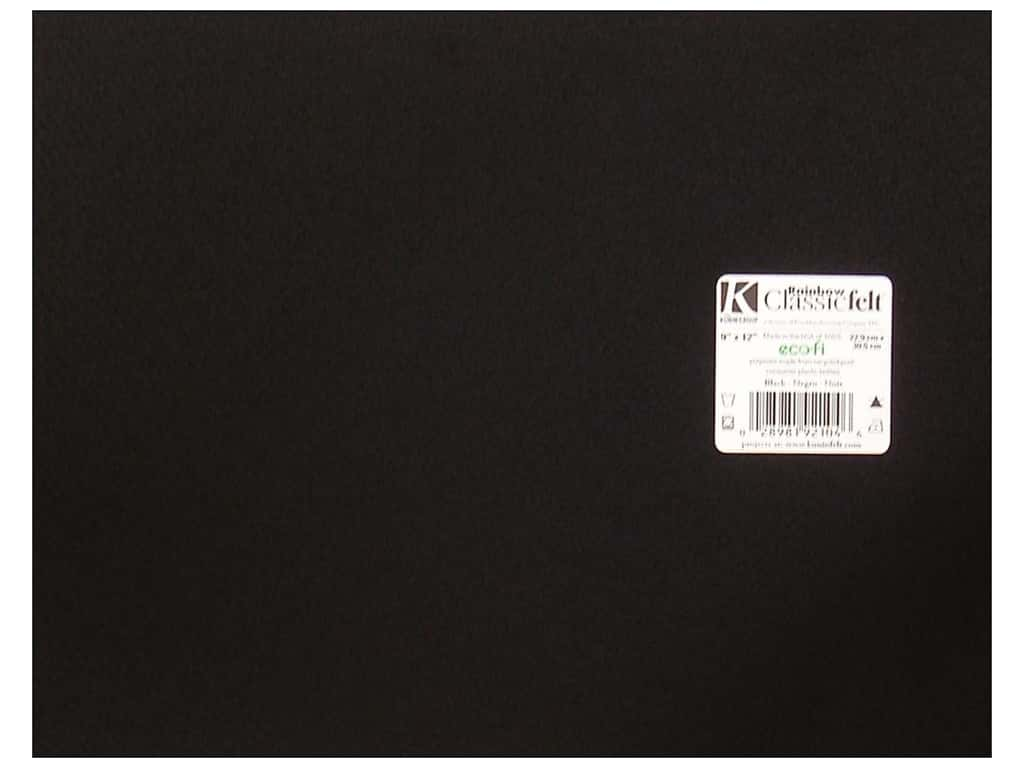 Kunin Felt 9 x 12 in. Black (24 sheets)