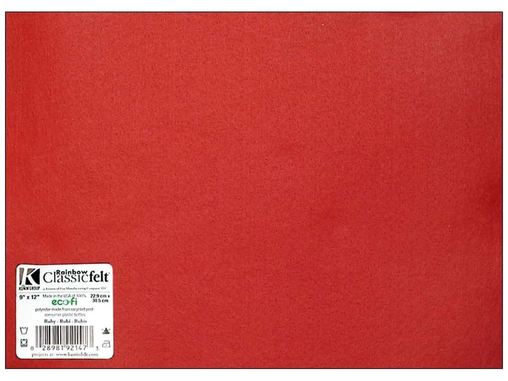 Kunin Felt 9 x 12 in. Ruby (24 sheets)