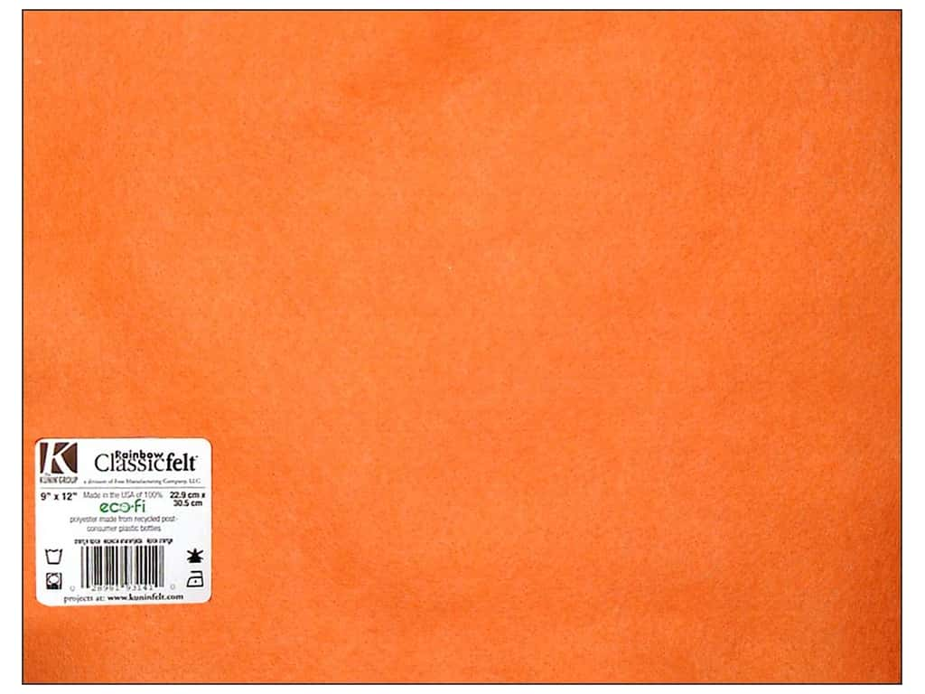 Kunin Felt 9 x 12 in. Orange (24 sheets)