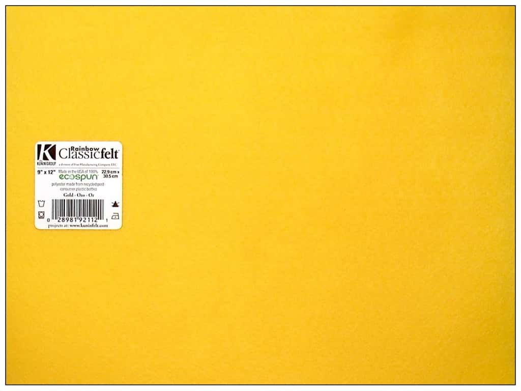Kunin Felt 9 x 12 in. Gold (24 sheets)