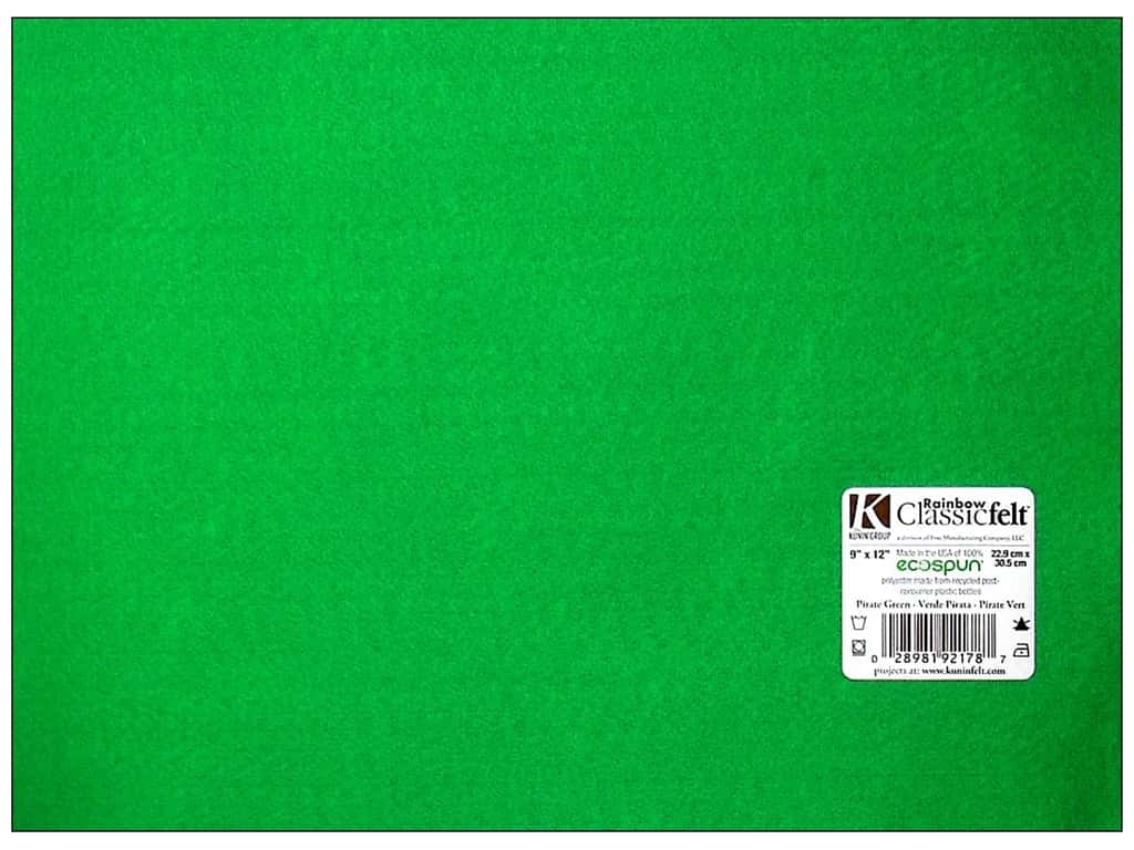 Kunin Felt 9 x 12 in. Pirate Green (24 sheets)