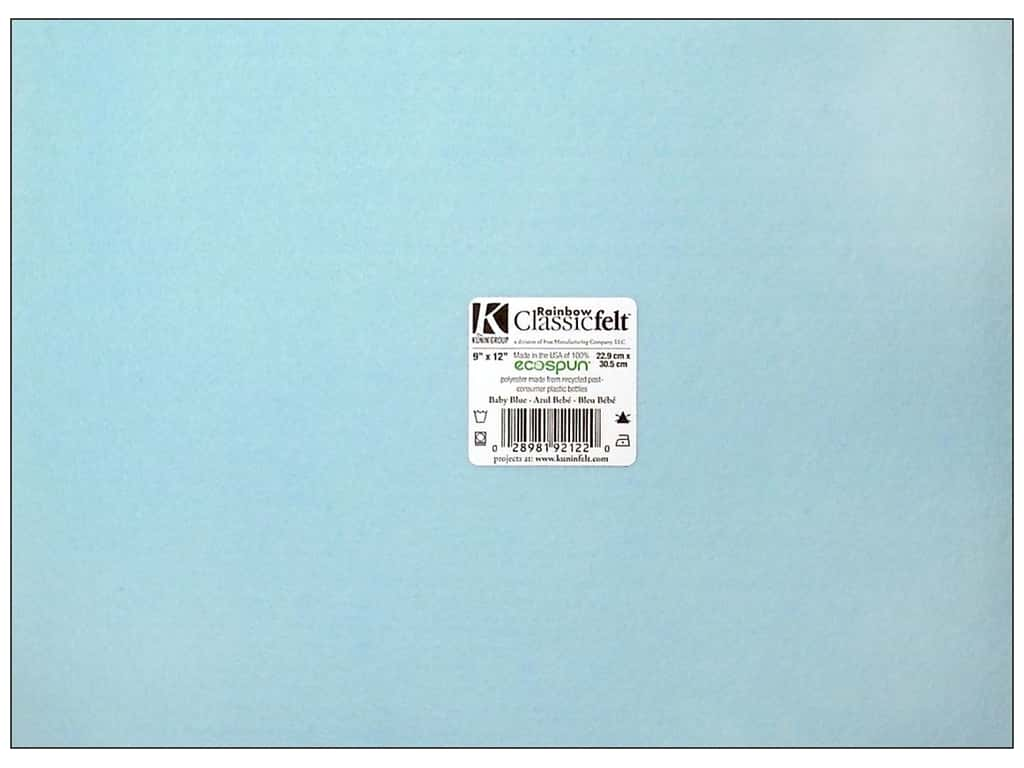 Kunin Felt 9 x 12 in. Baby Blue (24 sheets)