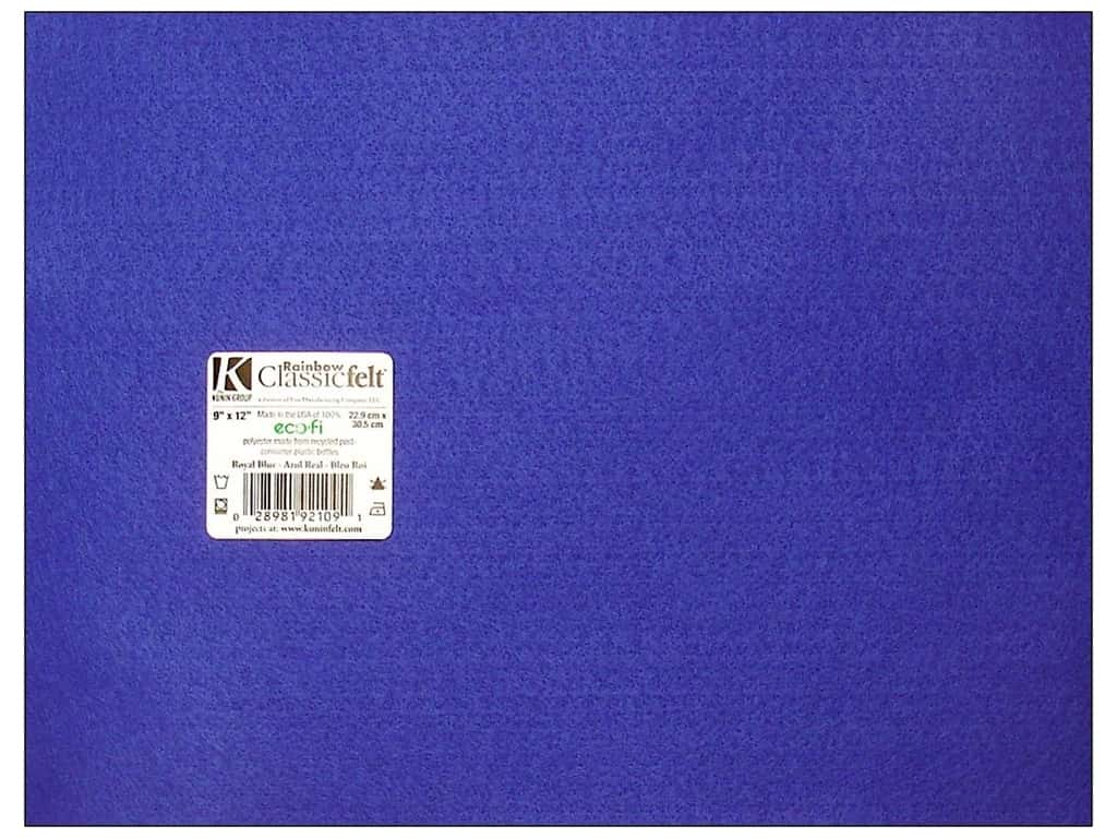 Kunin Felt 9 x 12 in. Royal Blue (24 sheets)