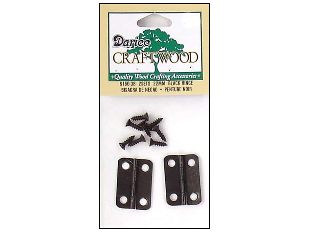Darice Hinges 7/8 in. Black 2 pc.