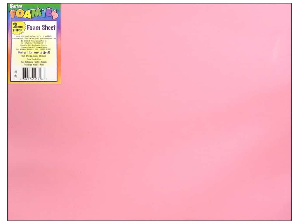 Darice Foamies Foam Sheet 9 x 12 in. 2 mm. Pink (10 sheets)