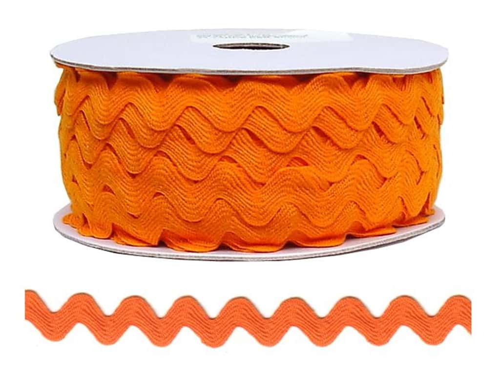 Cheep Trims Ric Rac 11/16 in. Orange (24 yards)