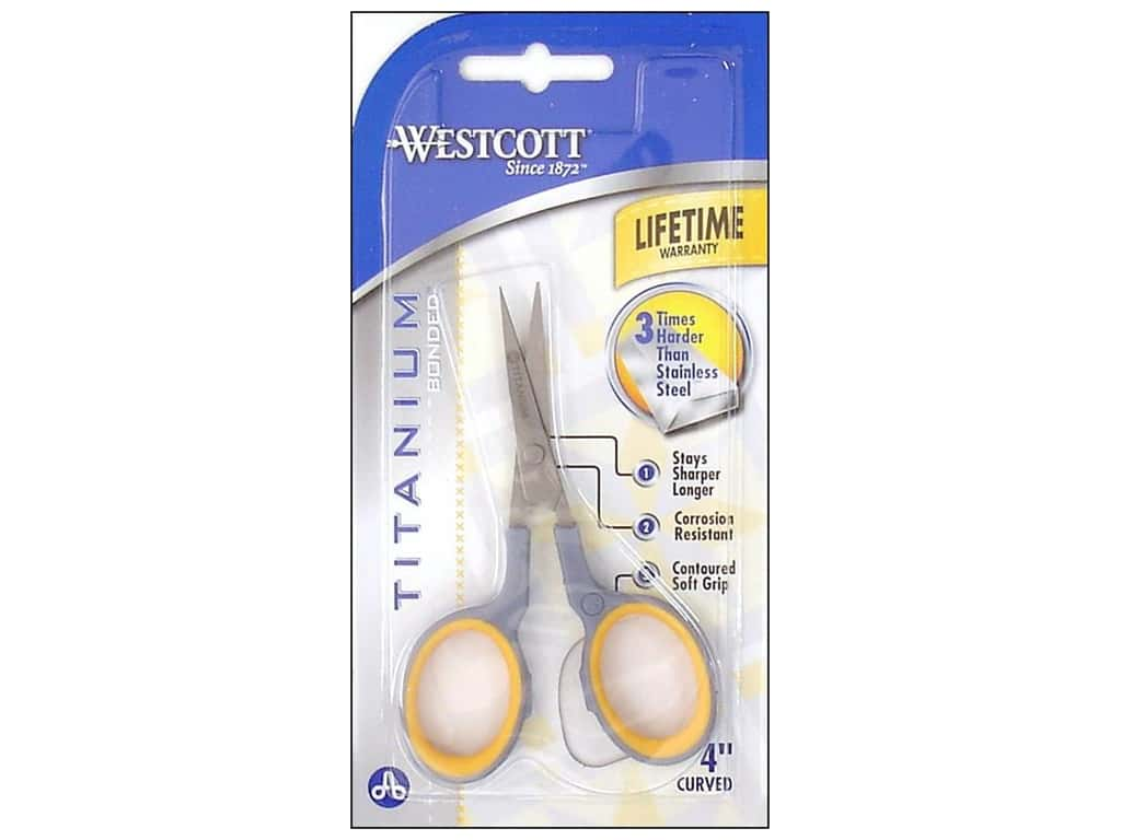 Westcott 4 in. Titanium Bonded Curved Embroidery Scissors