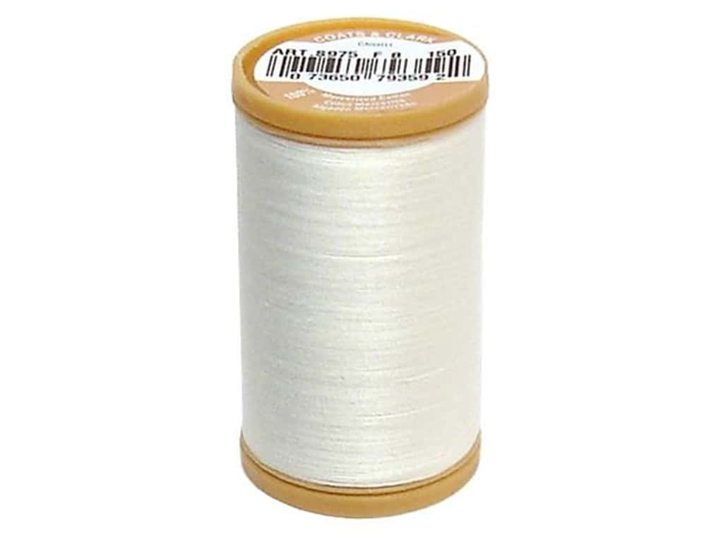 Coats Cotton Machine Quilting Thread #150 Winter White 350 yd.
