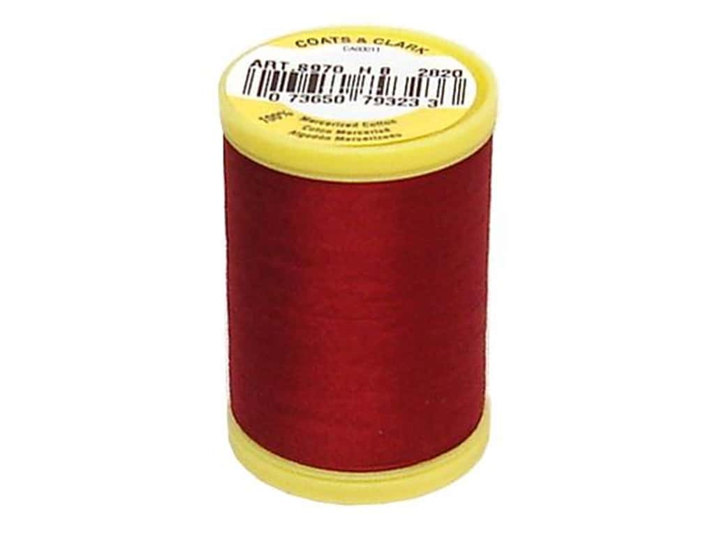 Coats All Purpose Cotton Thread 225 yd. #2820 Barberry Red