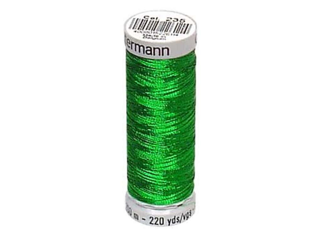 Gutermann Decor Metallic Thread 219 yd. Christmas Green
