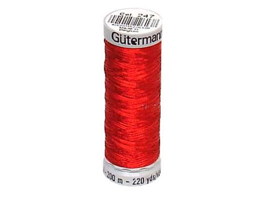 Gutermann Decor Metallic Thread 219 yd. Red
